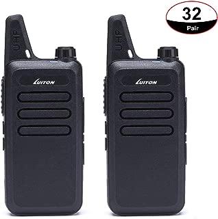 Case of 32, LUITON Mini Kids Walkie Talkies Lt-316 Uhf with Micro USB Charging Two-Way Radio