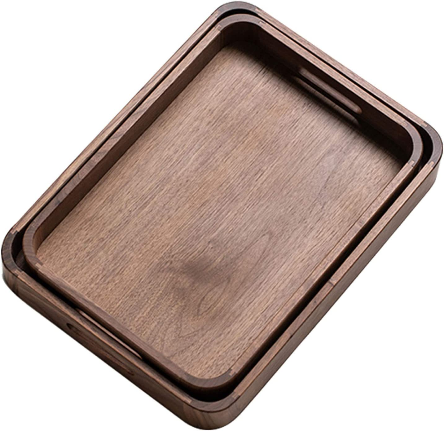 Wooden Dealing full price reduction Tray Rectangular Black Walnut Water for Wood C free shipping Solid