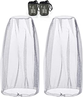 Samshow Head Net Mesh 2 Pack Head Net Face Mesh Head Cover for Outdoor Lovers Protect from Fly Screen Mosquito Gnat and Other Flies (Gray)