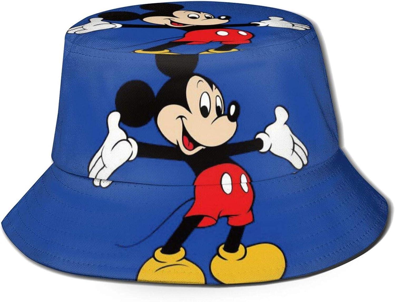 Mickey Mouse Fisherman Hats Summer Beach Bucket Hat Unisex Sun Cap for Outdoor Sports