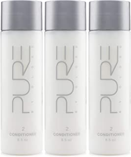Pure by Gloss Conditioner – Luxurious Moisturizing, Softening & Detangling Formula for All Hair Types – Fresh Lemon Scent – 8.5oz, 3 Pack