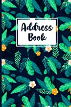 Address Book: Alphabetical Contacts Phone logbook with Nice Floral Design 6 x 9 inch Address Organizer journal with A-Z In...