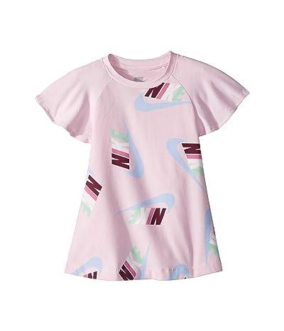 Nike Kids Sportswear All Over Print Dress (Toddler) (Pink Foam) Girl