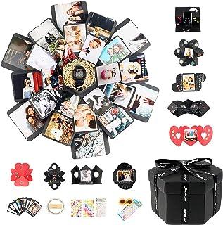 CHICHIC Explosion Box Explosion Gift Box Set DIY Photo Album Surprise Creative Photo Album Box Handmade Memory Scrapbook L...