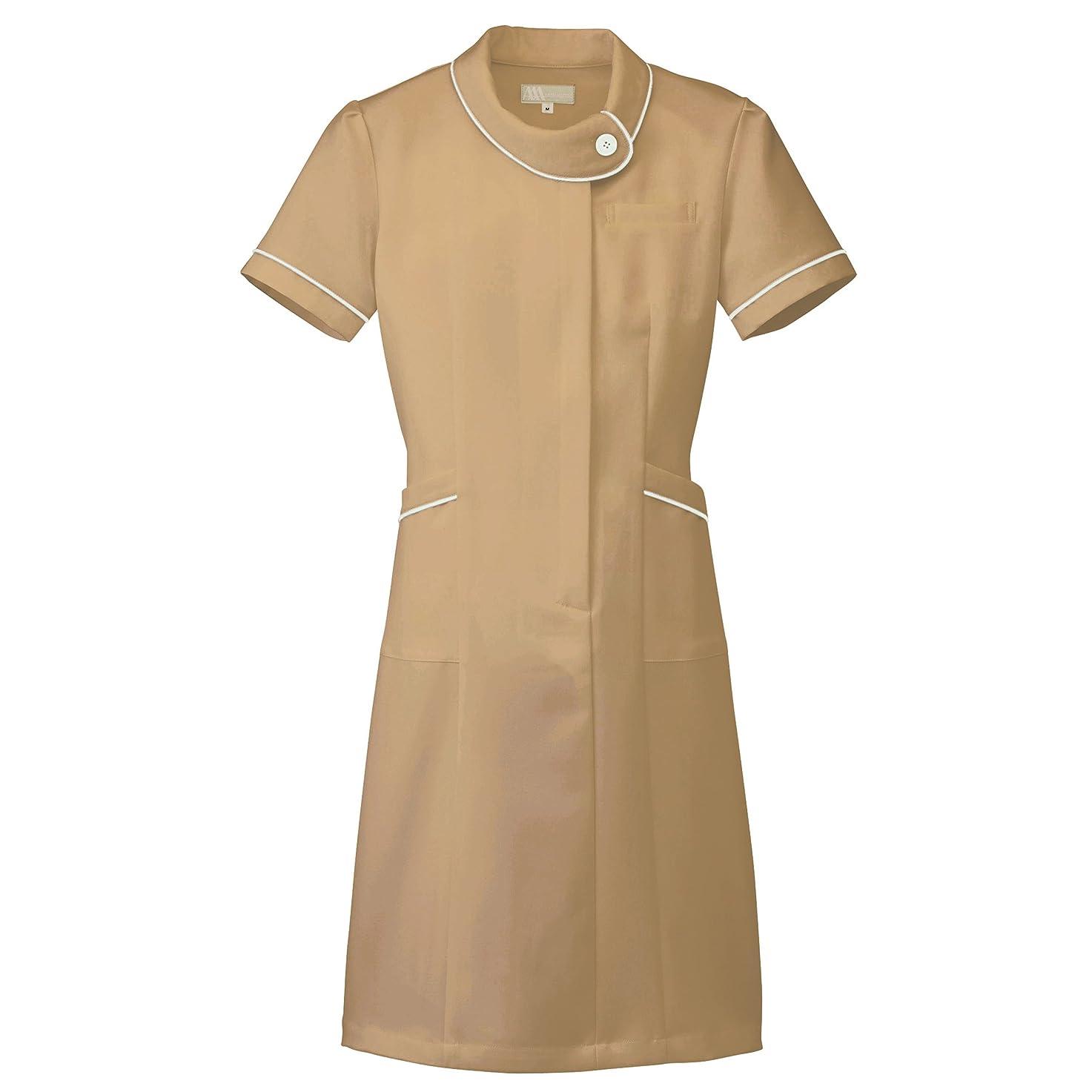 流す食べる幸福【Lumiere】ルミエール ナース 看護師用 女性用 白衣 診察衣 ワンピース (861110) モカ S