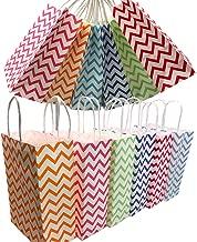 Aisamco 30 Stück Papier Party Taschen Geschenktüte Kraftbeutel mit Griff in Mehrfarben für Geburtstag Tea Party Weihnachten Hochzeit und Party Feiern