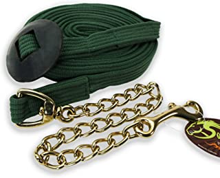 Southwestern Equine 24' Flat Cotton Web Lunge Line with Chain & Rubber Stop