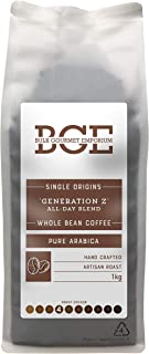 Bulk Gourmet Emporium Single Origin 'Generation Z' All-Day Blend Pure Arabica Whole Bean Coffee in Recyclable Bag, 1 kg (Makes Approx. 60-65 Mugs)