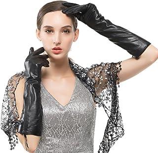 Nappaglo donne lungo autentica nappa, guanti di pelle schermo scrivendo l'inverno al caldo vestito da sera festa mittens.