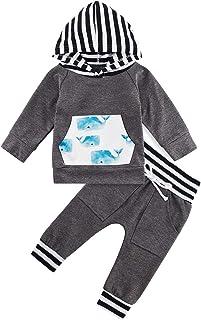 Infant Baby Boys Sweatshirt Set Clothes Long Sleeve...