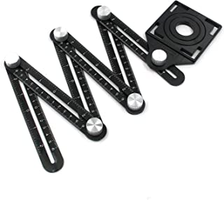 Angle Measuring Tool Karcy Angular Ruler Upgrade Universal Ruler Universal Opening Locator Black 6-Sided Aluminum Alloy Se...
