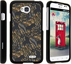 TurtleArmor | Compatible with LG Optimus L70 Case | LG Ultimate 2 Case | LG Exceed 2 [Slim Duo] Slim Ultra Fitted Hard Cover Rubberized Camo Case on Black - Animal Courage