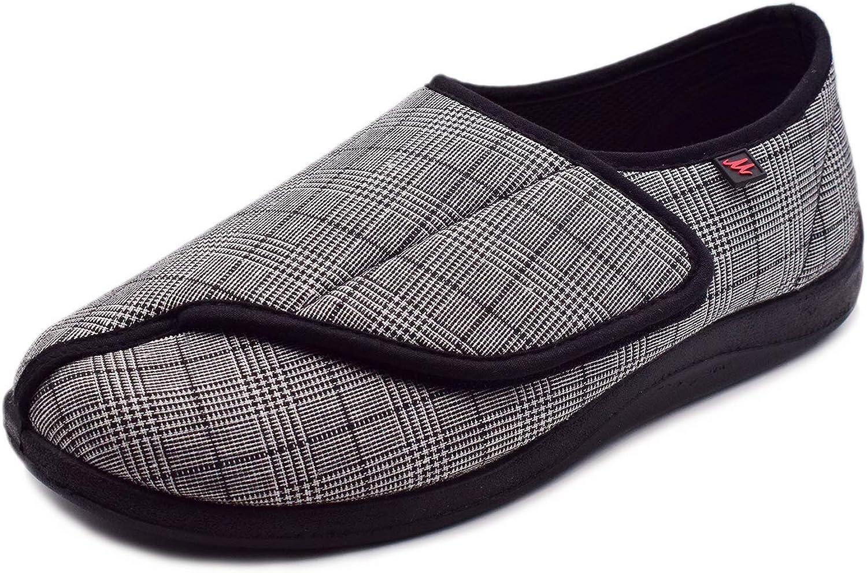 Mei MACLEOD Men's Swollen Feet House shipfree Foam OFFicial mail order Memory Slippers,E