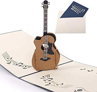 Handmade 3D Pop Up Cards - Guitar Handmade Pop Up Greeting Card for Your Loved Ones, Wedding Anniversary Card for Couple, Valentine Day, Happy Birthday Cards
