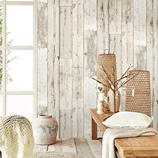 Homeme Wood Contact Paper, 600 x 45cm Self-Adhesive Wallpaper Peel Stick Wallpaper with PVC Waterproof Oil-Proof and Remov...