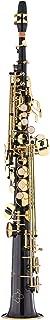 Kaizer Soprano Saxophone Straight B Flat Bb Black Lacquer Gold Keys SSAX-1000BKGK