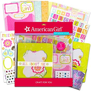 American Girl Crafts Mini Memory Book Scrapbook Diary Journal Kit ~ 266 Pcs with Bonus Glitter Stickers