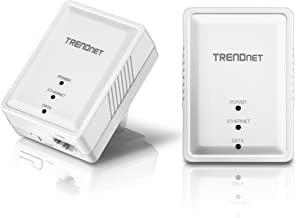 TRENDnet Powerline 500 AV Nano Adapter Kit, Includes 2 x TPL-406E Adapters, Cross Compatible with Powerline 600/500/200,Windows 10, 8.1, 8, 7, Vista, XP, TPL-406E2K