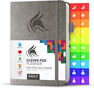 $24 » Clever Fox Planner Daily - Best Agenda & Daily Calendar to Boost Productivity, Happiness & Hit Your Goals - Gratitude Jour...