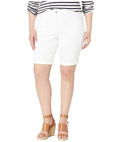 NYDJ Plus Size Plus Size Briella Roll Cuff Shorts in Optic White (Optic White) Women