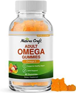 Fish Oil Omega 3 Gummies - Omega 3 6 9 and EPA DHA Adult Gummy Vitamins for Women and Men - Omega 3 Fish Oil Vitamin Gummi...