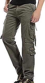 Pantalones Camuflaje Hombres Ropa Trabajo Trekking Pantalón Cargo Hombre Pantalon con Bolsillos Laterales