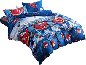4pcs Christmas Style Bedding Set Queen Size Bed Sheet Bed Linen Quilt Cover Pillowcase Kit for Home Bedroom Hotel Dormitor...
