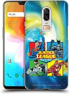 Official Justice League DC Comics Box Supreme Team Hard Back Case Compatible for OnePlus 6