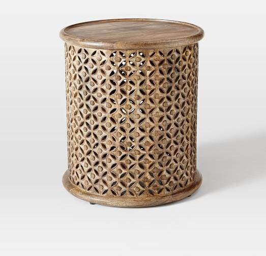 Carved Wood Side Table | west elm