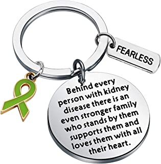 WSNANG Kidney Disease Awareness Jewelry Behind Every Person with Kidney Disease There is Stronger Family Supports Them Keychain Kidney Disease Fighter Gift
