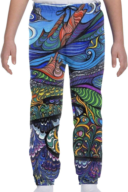 Eagle Flag Kansas City Albuquerque Mall Mall Youth Sweatpants 3D Girls Teens Boys Print Trousers