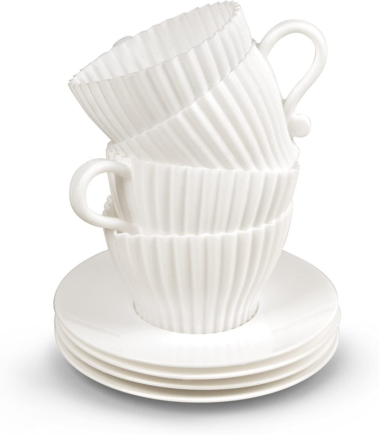 Genuine Fred TEACUPCAKES Baking Cups Set Max 63% OFF of Saucers 4 San Diego Mall and