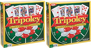 Ideal Tripoley Deluxe Mat Edition Card Game, 2 Pack
