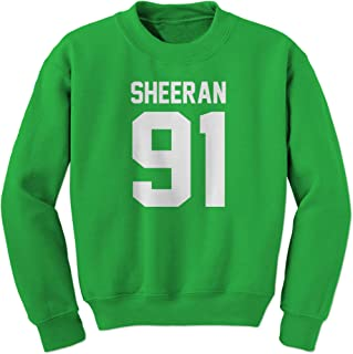 Sheeran 91 Jersey Style Birthday Year Crewneck Sweatshirt