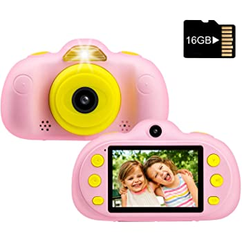 Pink Openuye Digitale Kamera f/ür Kinder 8.0 MP Kinder Kamera 1080p Videokamera Kinderkamera 2.4 Zoll LCD Display Kinder Digitale Kamera mit 16 GB Speicherkarte und USB Kabel