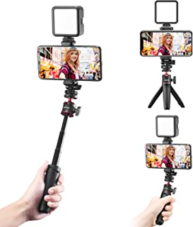 ULANZI Phone Tripod with LED Video Light, Portable and...