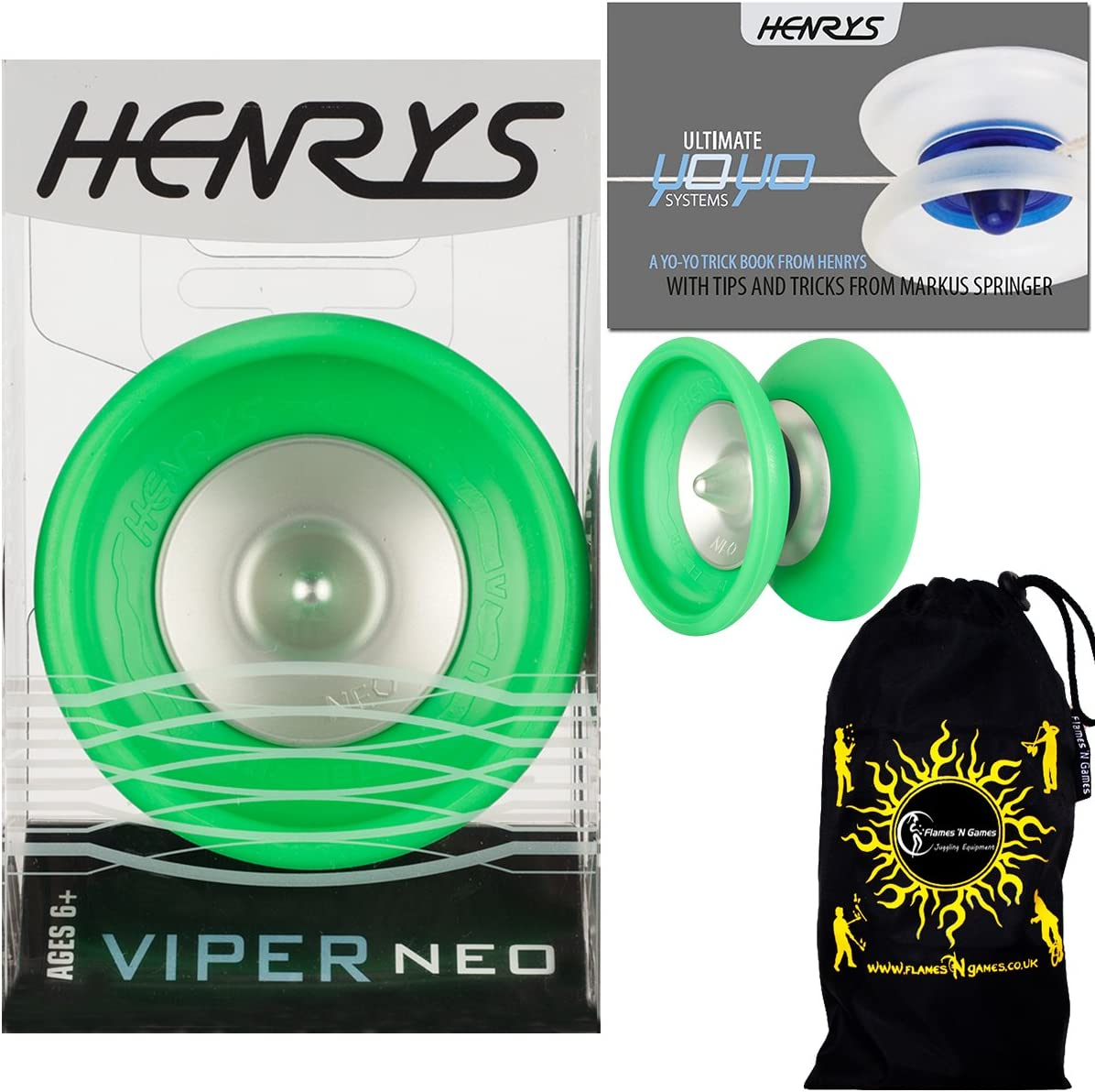 Henrys VIPER NEO Pro Ranking TOP6 YoYo Limited time cheap sale Green Professional String Off 1A 4