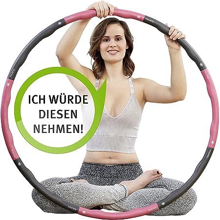 WALDFEE® Hula Hoop Reifen - Spielend abnehmen I Hoola Hup - Fitness von Zuhause für Erwachsene I Hullahub mit Gewicht zum Zusammenklicken und Loslegen I mit Tasche und Anleitung