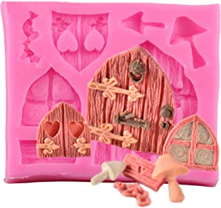 1pc Cartoon Fairy House Silicone Mold for DIY Handmade Ice Cream Gum Paste Crystal Desserts Jelly Shots Ice Cube Cupcake Cake Topper Decoration Fondant Mold Pudding Chocolate Soap Mould Candy