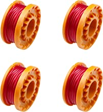 Aallo 4 Pcs Grass Spool Line String Trimmer Refills 10-Foot/ 3M Replacement Spool Line Grass Trimmer Spool for Grass Trimm...