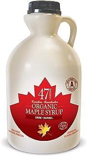 47 North Jarabe de arce orgánico canadiense, Single Source, Grade A, (Dark Robust, 1000ml)