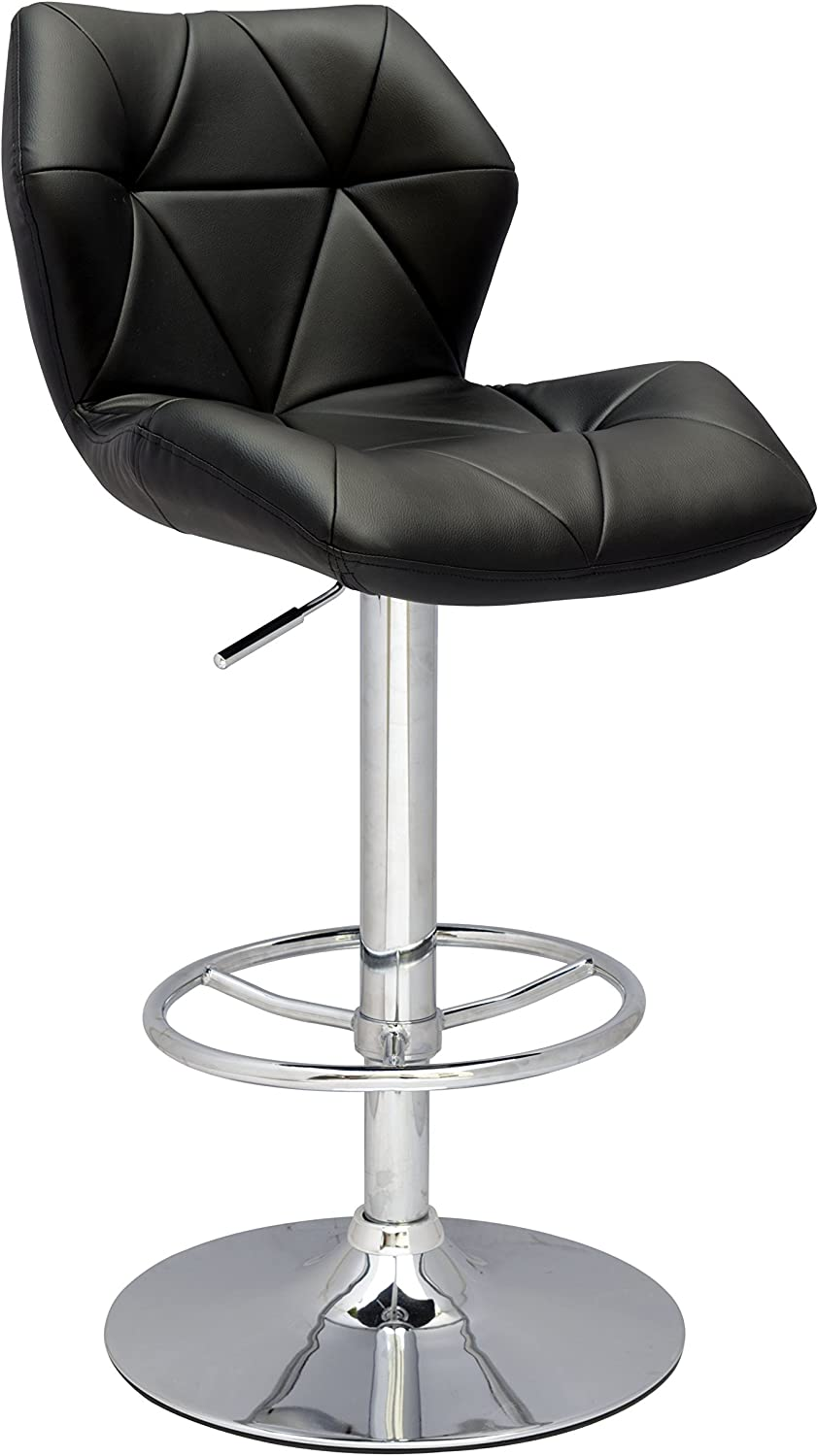 Milan Margaret Black Pneumatic Gas Lift Height Swivel Stool