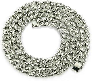 Materia Argent rhodi/é 925/cha/îne Royale Collier Homme 5,4/mm 76,7/G 4/voies diamant/ée 1000/50/55/60/70/cm Box # K35