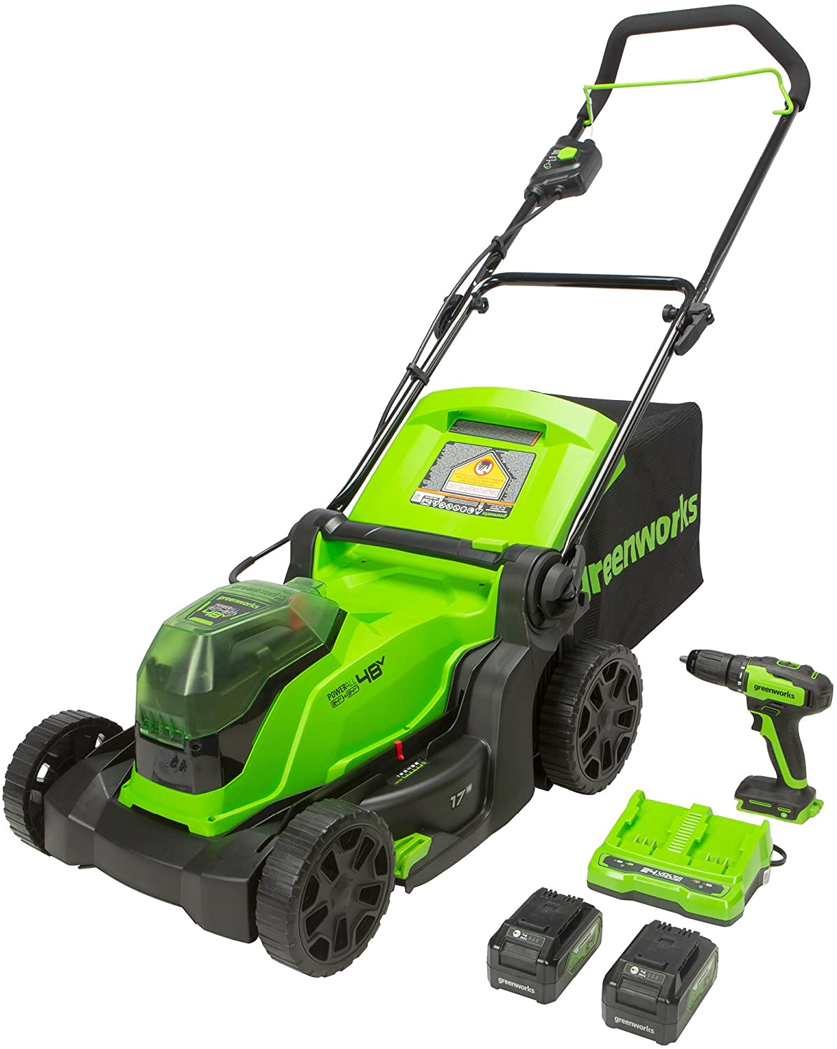 Greenworks 48V 2 x 24V Brushless Mower Special Inexpensive Campaign 17-Inch Cordless Lawn