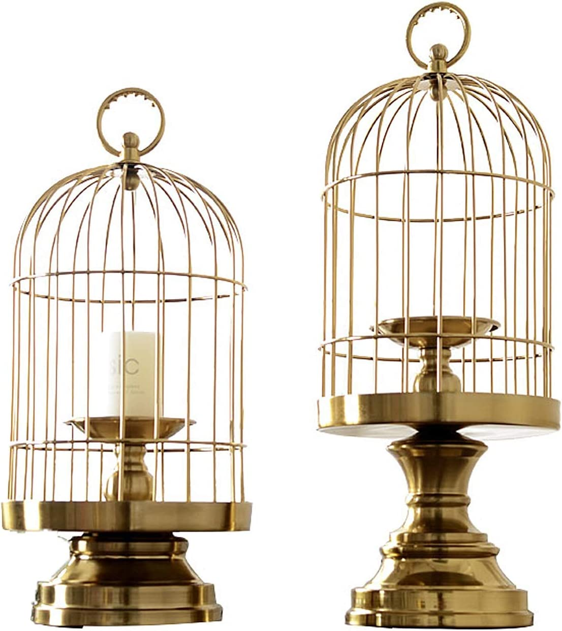 DUOWEI Large special price !! Decorative Bird Cage Candle Holder Vintage Candlestick Ho Wholesale