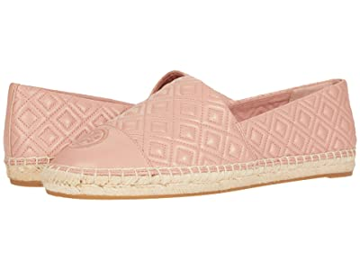Tory Burch Quilted Flat Espadrille (Pink Moon/Pink Moon) Women