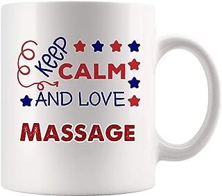 Keep Calm Love マッサージマグ コーヒーカップ ティーマグギフト フォローパッション ホビー 恋人 女の子 男の子 学生 セラピー セラピスト セラピー 理学療法 補助