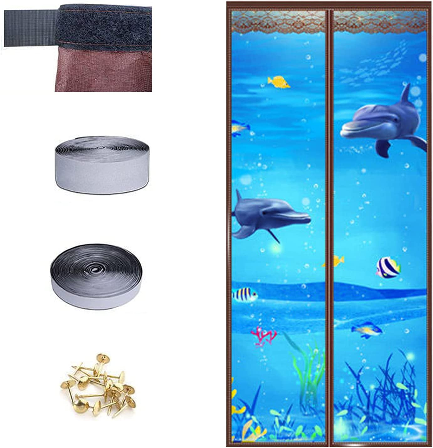 Max 78% OFF 2021 Upgraded Version Magnetic Screen Door with wholesale Frame Full Hoo -