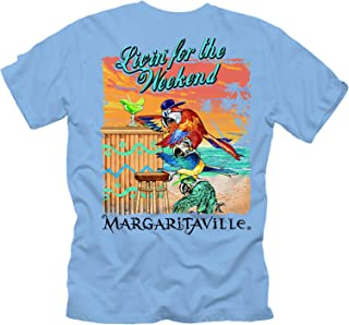 Margaritaville Men's Livin for The Weekend Graphic Short Sleeve T-Shirt
