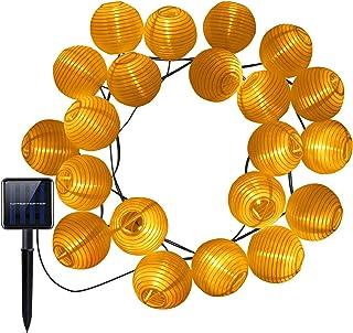 AMIR Solar Powered String Lights Lantern 20 LED 16ft Length Starry String Christmas Globe Lights Indoor/Outdoor Waterproof...